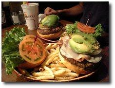 Un menu hamburgers